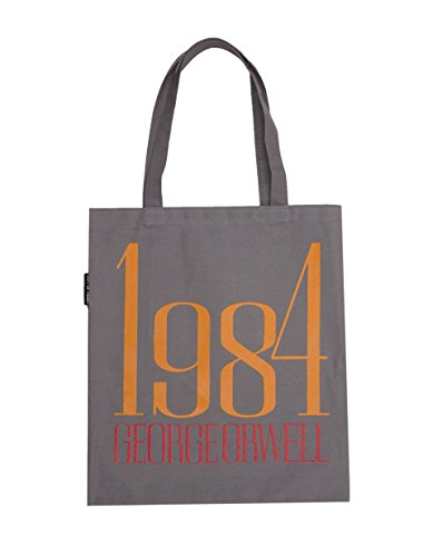 Bolsa de transporte de lona com tema literário e livro para amantes de livros, leitores e bibliófilos, 1984 Canvas, One Size