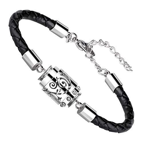 RoyAroma Essential Oil Diffuser Bracelet Aromatherapy Bracelet Stainless Steel Locket Bracelet with Leater Adjustable Wristband Diffusing Bracelet for Women&Men