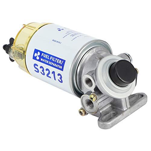 Qiilu Marine Kraftstofffilter, Marine Kraftstofffilter Wasserabscheider Komplettsatz S3227 Boot Außenbordmotor Teile