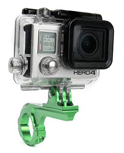 Support et bras DURAGADGET vélo, moto sur guidon pour GoPro Hero 7 (2018) / Hero 6, Hero 5 / 5 Session, Hero 4, HERO+ LCD, Hero4 Session, GoPro 1, 2, 3, 3+ HD Outdoor, Adventure, Surf & Music caméscopes / caméra embarquée - vert