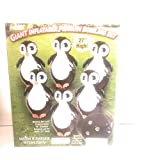 Etna Giant Inflatable Penguin Bowling Set. Jumbo Size, Six 27' Pins and 57' Ball Circumference. Inflates Easily. Indoor & Outdoor. Stretchy Fabric Cover for Bowling Ball. All Ages Kids and Adults