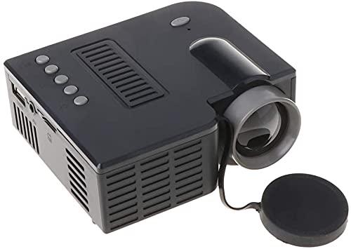 Fringe Trim Mini Proyector De Video Portátil Proyector LCD Reproductor Multimedia Video Proyector para Teléfono Inteligente/Computadora/Portátil(Color:Negro)
