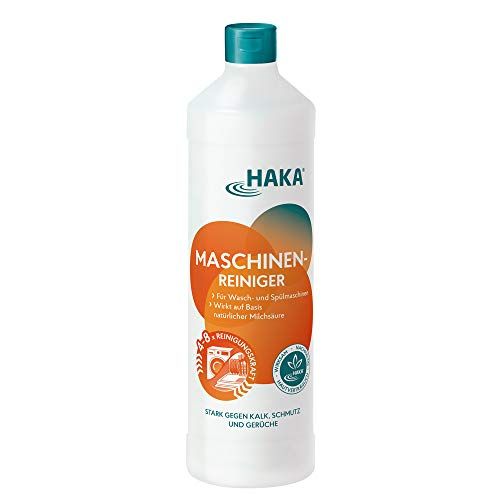 HAKA Maschinenreiniger I 1 Liter I Geschirrspülmaschine/Spülmaschine & Waschmaschine reinigen und pflegen I Gegen Fett, Kalk und Gerüche