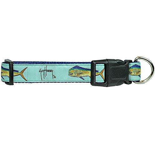 Guy Harvey Canvas Ribbon Nylon Embroidered Nautical Dog Collars 3 Sizes...