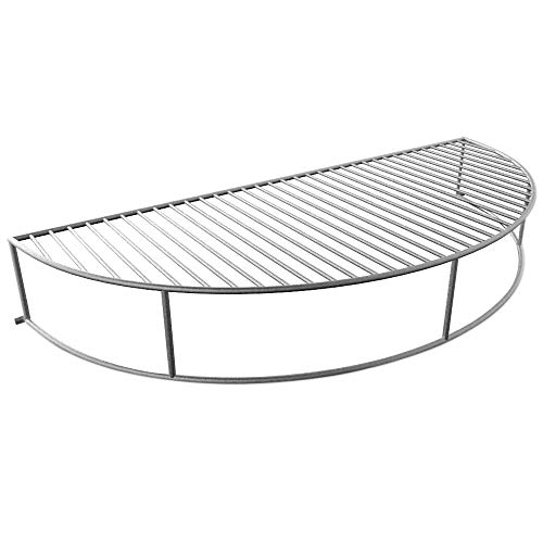 The Original 'Upper Deck' Stainless Steel Grilling Rack/ Warming Rack /Smoking Rack/ Charcoal Grill Grate- Use with Weber 22 inch Kettle Grill- Charcoal Grilling Accessories and Grill Tools Grill Rack