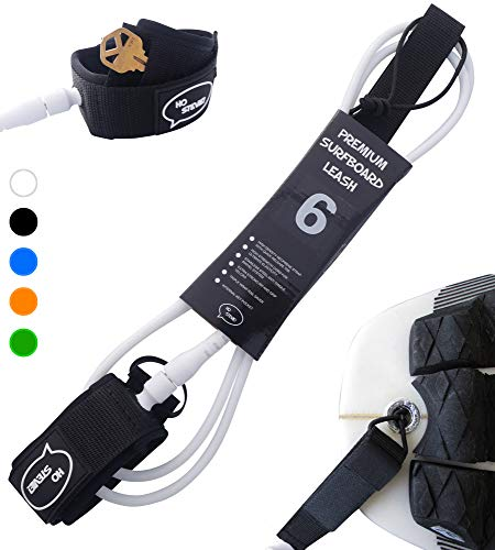Ho Stevie! Premium Surf Leash [1 Year Warranty] Maximum Strength, Lightweight, Kink-Free, Types of Surfboards. 7mm Thick