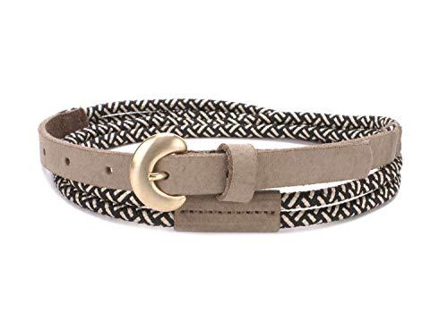 Tamaris Leather Belt W85 Black-White
