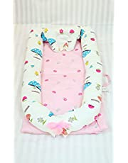 Baby Lounger and Baby Nest Sharing Co Sleeping Baby Bassinet - 100% Soft Cotton sleeping Baby Bed (0-24months) -Breathable & Hypoallergenic Portable Crib