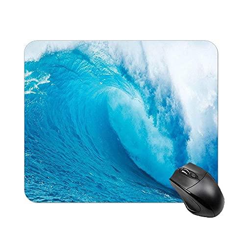 Alfombrilla de mouse para juegos personalizada, diseño moderno para mujeres, hombres, alfombrilla de mouse gruesa de goma antideslizante para computadoras portátiles (océano ondulado océano av