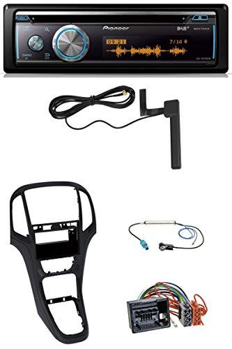 caraudio24 Pioneer DEH-X8700DAB CD USB Bluetooth DAB MP3 Autoradio für Opel Astra J ab 2009 Perl schwarz