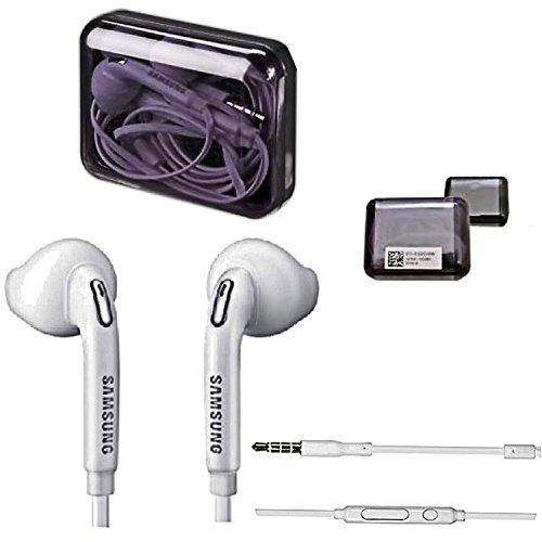 Samsung Handy Stereo Premium Headset Jewel Case Box - In-Ear Kopfhörer - Freisprecheinrichtung - in der Farbe Weiß für kompatible Mobiltelefone mit 3,5 mm Klinke