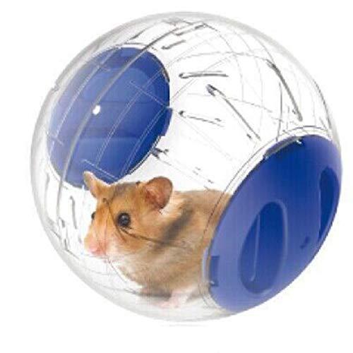 Carry stone Hamster Übungsball Kleintier Aktivität Spielzeug Joggen Laufendes Spielzeug für Haustier Eichhörnchen Meerschweinchen Hamster Blau 1 STÜCKE(Durchmesser 12cm)