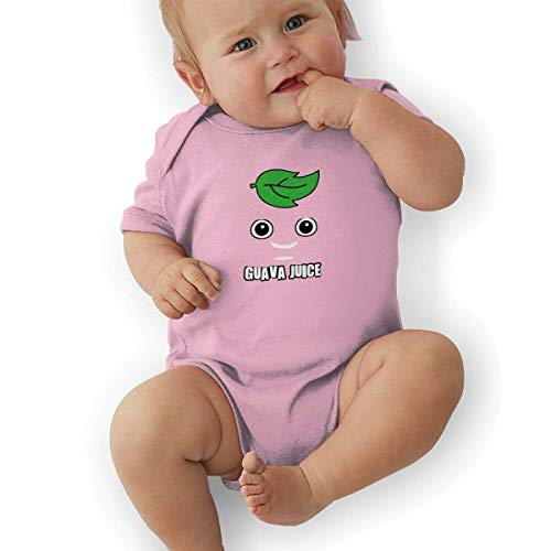 sunminey Traje de bebé Soft Baby Cotton Bodysuits Gua-v-a Juice Graphic Short-Sleeve Bodysuits