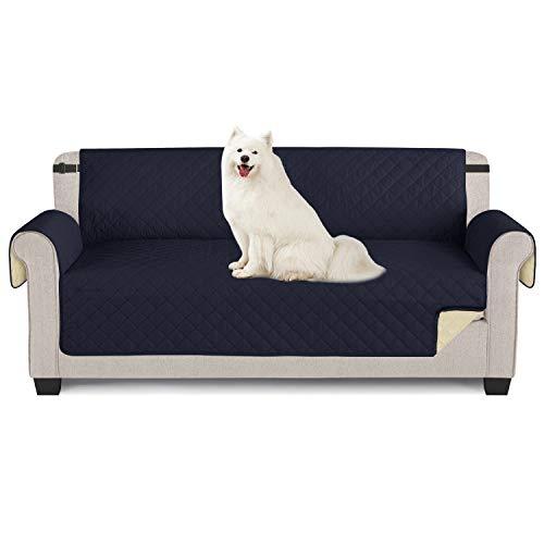 TAOCOCO Sofabezug, wasserdicht, Sofaüberwurf für Sofas und Sofas 3 posti 165 * 190cm dunkelblau