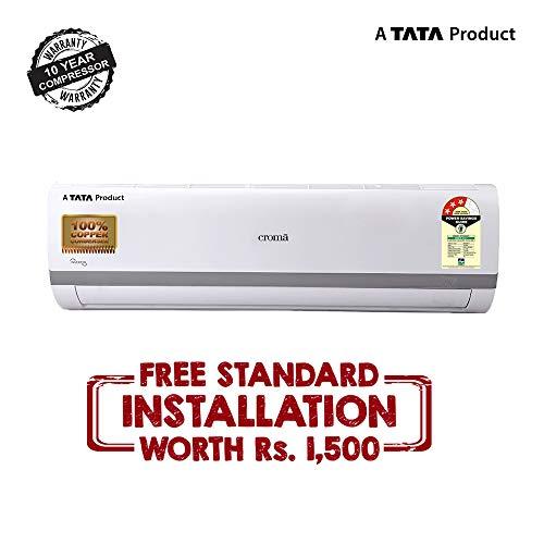 Croma 1 Ton 3 Star Split Inverter AC (CRAC7556, White) with FREE Installation