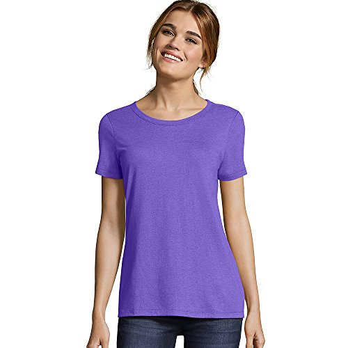 Hanes MO150 Ladies' Modal Triblend Scoop T-Shirt Grape Triblend M