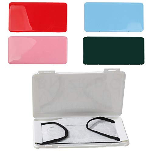 KISEER 5 Pack Colorful Plastic Masks Case Portable Face Mouth Cover Storage Box Holder Organizer for Recyclable Face Mask Pollution Prevention Container Keeper