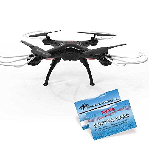 SYMA X5SC Schwarz Quadrocopter Explorers 2 Drohne, Copter Card 2,4Ghz mit HD Kamera 3D