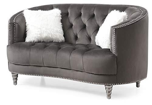 Glory Furniture Dania , Gray Loveseat, 36' H X 64' W X 37' D