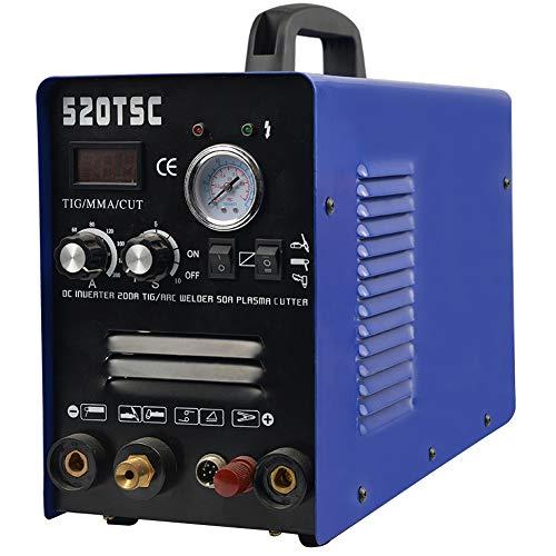 3 in 1 Welding Machine TIG/MMA Plasma Cutter Welder Non-Touch Pilot Arc Plasma Cutting Equipment Tig Welder Stick Welder Dual Voltage 110 220V