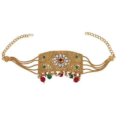 Efulgenz Indian Bollywood Vintage Ethnic Gold Plated Armlet Armband Upper Arm Bangle Bracelet Bridal Jewelry Multicolor