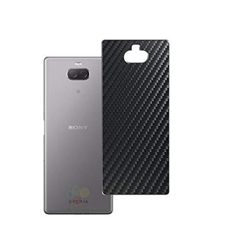 Vaxson 2 Unidades Protector de pantalla Posterior, compatible con Sony Xperia xa3 ultra xa 3, Película Protectora Espalda Skin Cover - Fibra de Carbono Negro
