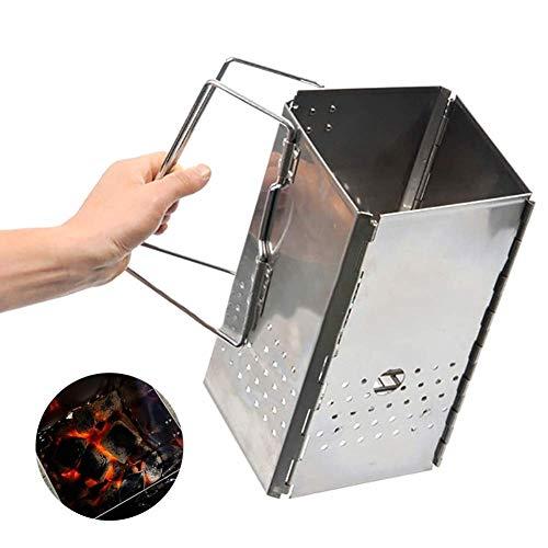 Houtskool schoorsteen Starter Grill Aansteker Mand Koken Snel Vuur Briquette Starters Eenvoudige Perfect Opvouwbare Draagbare Grills Camping Outdoor