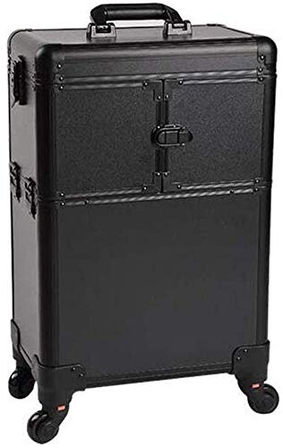 Trolley Box Aluminum Alloy high-Rolling Removable Storage Bag Trolley case Extra Large Suitcase,Black