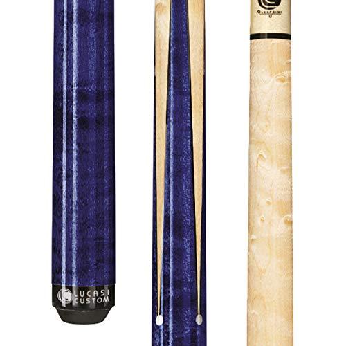LUCASI Lux LZ2000SPB April 2020 Blue Billiards Pool Cue Stick COTM + Zero Flexpoint Low Deflection Shaft w/Tiger Everest Tip