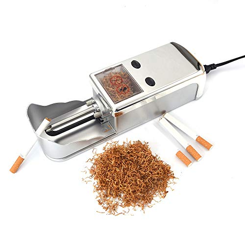 for Regular King Superkings Cigarette Tubes Electric Automatic Injector Machine Rolling Making (Silvery)