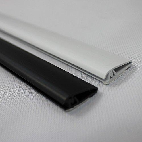 PROHEIM Klemmleiste 150 cm 2er Set selbstklebend zur sicheren Befestigung von Lamellenvorhängen/Fliegengittern, Farbe:Weiß