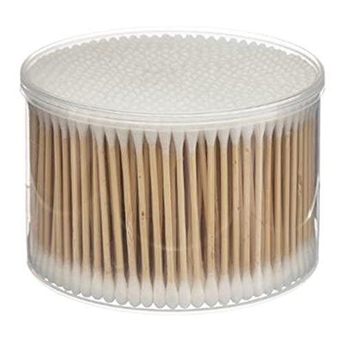 500 x Cotons-tiges en Bambou, Embout 100% Coton, Tige Naturelle, Résistante, Durable, Ecologique (8 cm)