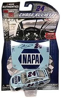 2017 Wave 8 NASCAR Authentics Chase Elliott #24 NAPA Darlington Throwback Paint Scheme 1/64 Scale with Bonus Collectors Plastic Hood