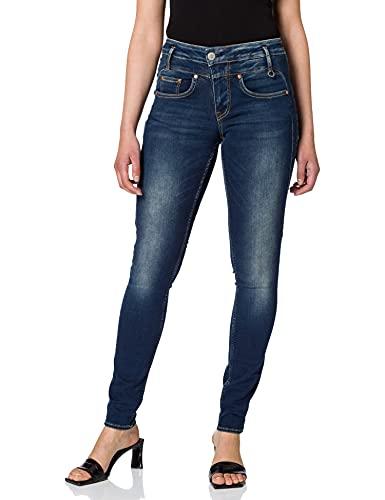 Herrlicher Damen Sharp Slim Denim Powerstretch Jeans, clean 051, W28/L30