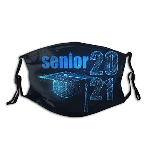 Fashion Class of 2021 - Mascarilla facial lavable con 2 filtros - negro - talla única