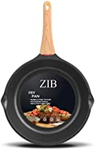 ZIB Induction Nonstick Frying Pan Skillet Stone Pan for Eggs Child Protection Function Granite Coating from Germany(8inch)