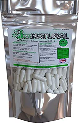 100 Hydrolyzed Collagen Capsules 1000mg Bee-natural