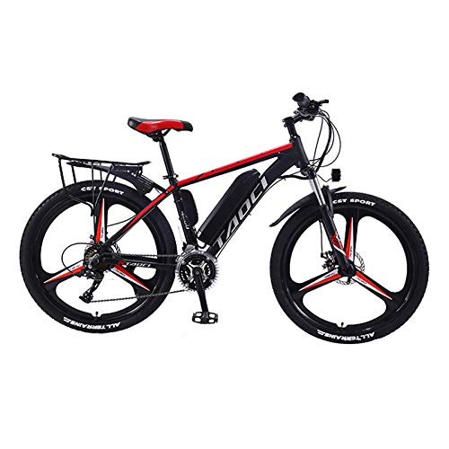 Hyuhome Electric Bikes for Adult, Magnesium Alloy Ebikes Bicycles All Terrain,26' 36V 350W 13Ah Removable Lithium-Ion Battery Mountain Ebike for Mens,Red,13Ah80Km
