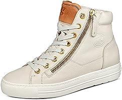 Paul Green 4024-019 Iron/Cognac Nubuck Leather Womens Trainer Boots