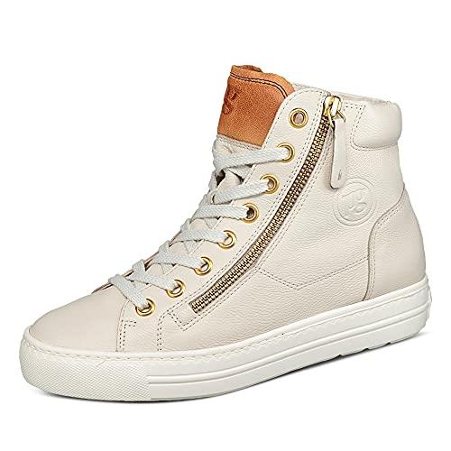 Paul Green Damen SUPER Soft Hightop-Pauls, Damen High-Top Sneaker,Women\'s,Lady,Ladies,Halbschuhe,straßenschuhe,Hellgrau/Mittelbraun,40 EU / 6.5 UK
