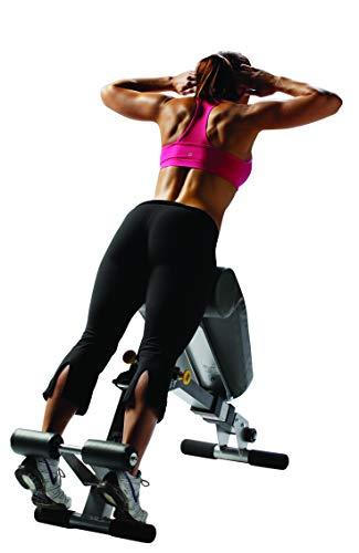 HOIST Fitness HF-4263 Dual Adjustable Ab / Back Hyper Roman Chair Exercise Bench - Platinum