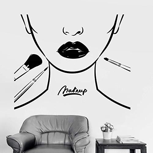 JXWH vinylapplicatie voor lippen en make-up, modieus, topmodel stickers, wanddecoratie, salon, schoonheid, decoratie voor ramen