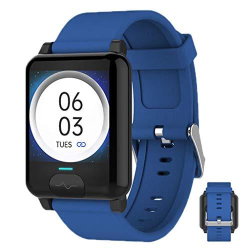 APCHY Reloj Inteligente Smartwatch,Monitores De Activida Rastreador De Fitness De Pulsera ECG + PPG Temperatura,Monitoreo De Temperatura Corporal,Ritmo Cardíaco Y Presión Arterial De Parada,Azul