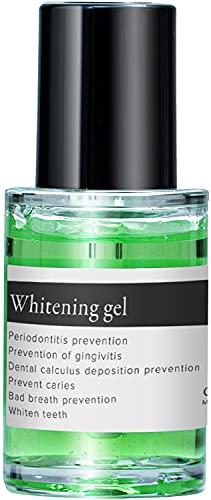 OraLuLu ホワイトニング 歯磨きジェル (黄ばみ/口臭ケア/研磨剤フリー) 専用ブラシ付 30g