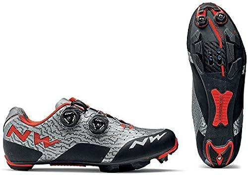 Northwave Rebel MTB Fahrrad Schuhe grau Schwarzrot 2018