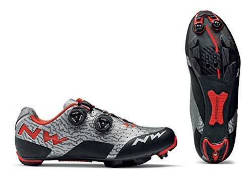 Northwave Zapatillas MTB Cross Country para Hombre Rebel Gris/Rojo Size: 42 EU