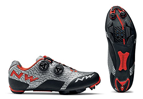 Northwave Zapatillas MTB Cross Country para Hombre Rebel Gris/Rojo Size: 42 EU