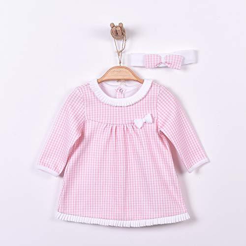 Sevira Kids - Robe bébé et bandeau en coton biologique, Charlotte
