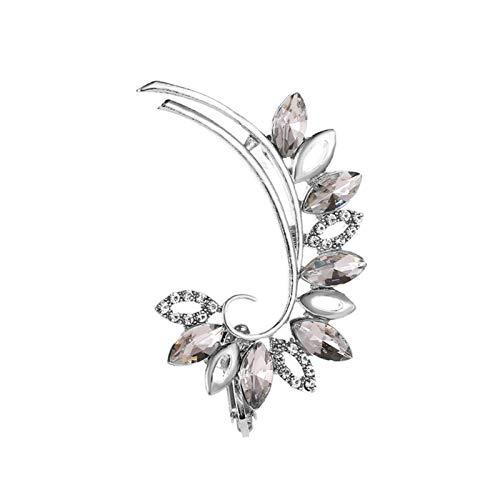 DOUBLE NICE Christmas Earrings Bohemian NO Piercing Crystal Rhinestone Ear Cuff Wrap Stud Clip Earrings for Women Girl Trendy Earrings Jewelry Bijoux Christmas Stud Earrings (Metal Color : EC020)