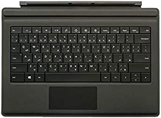 Microsoft Surface Go Type Cover, English and Arabic Keyboard, Black Color [KCM-00014]